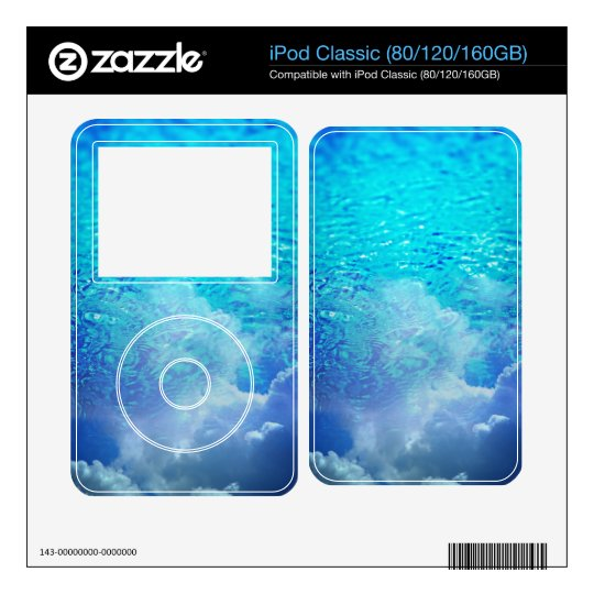 Water & Clouds iPod Classic Decals