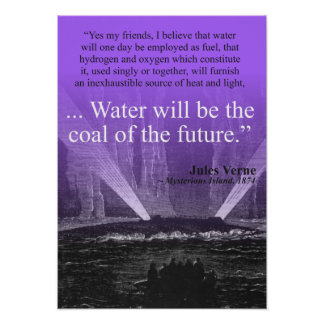 Water...coal of the future - Poster (purple)