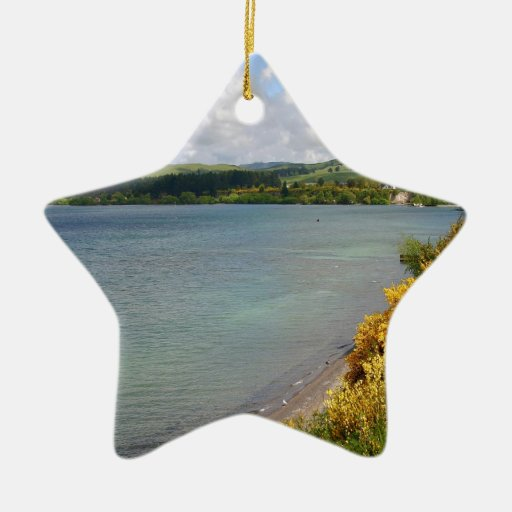 Water Coast Countryside At Summer Ceramic Ornament