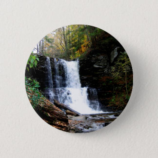 Water Cold River Falls Pinback Button