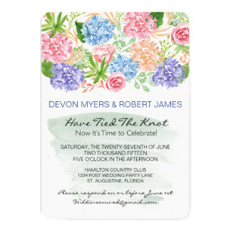 Water Color and Flowers Post Wedding Party Invite