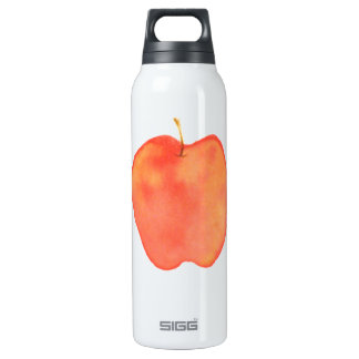 Water Color Apple Thermos Bottle