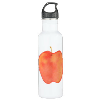 Water Color Apple Water Bottle