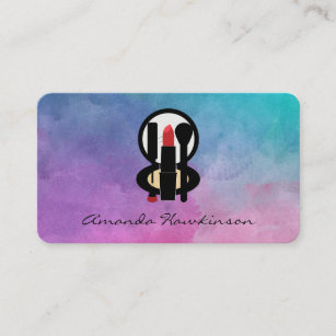 Makeup mirror business cards zazzle water color beautician business card colourmoves