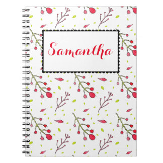 Water Color Branch, Twigs, and leaves Patterned Notebook
