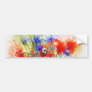 Water Color Bumper Sticker