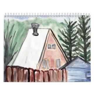 Water Color Calendar