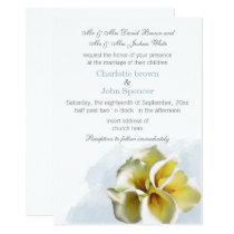 water color calla lilies Floral Invites