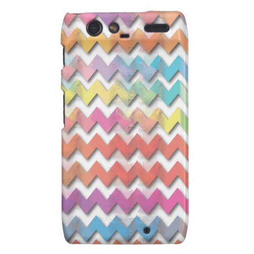 Water Color Chevrons Phone Cases Motorola Droid RAZR Cases