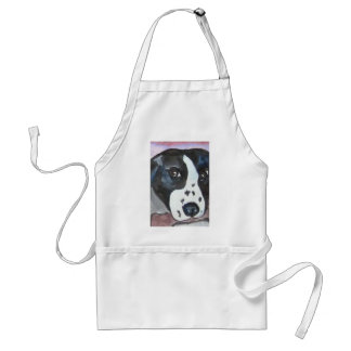 Water Color Dog Adult Apron
