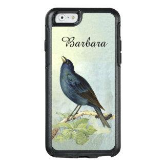 Water Color Elegant Black Bird Branch Caterpillar OtterBox iPhone 6/6s Case