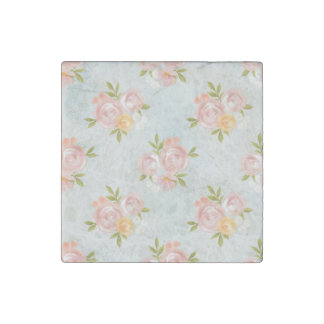 water color,floral,coral,cute,girly,trendy,chic,te stone magnet