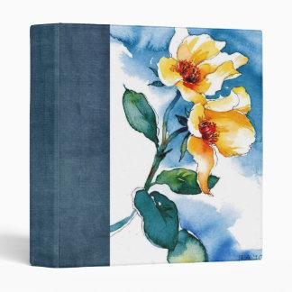 water color flower scrapbook binder