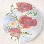 Water Color Flowers Drink Coaster