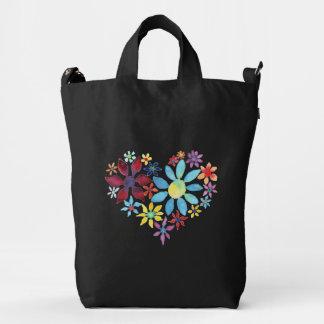 Water Color Flowers Duck Bag