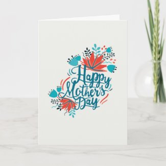 Water Color Flowers Mother's Day Card