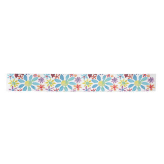 Water Color Flowers Satin Ribbon
