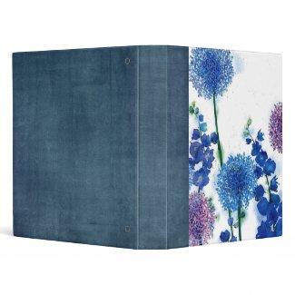 water color garden scrapbook binder