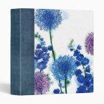 water color garden scrapbook binders