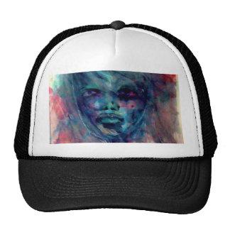 water color girl trucker hat