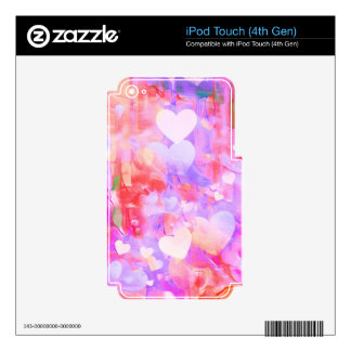 Water Color Hearts iPod Touch 4G Decal