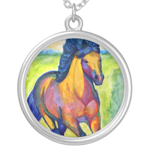 Water Color Horse Painting Custom Necklace