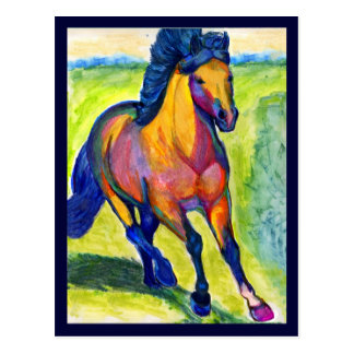 water color horse postcards