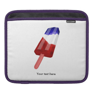 Water Color Illustration Red White  Blue Popsile Sleeve For iPads