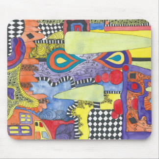 Water color image Mouse pad