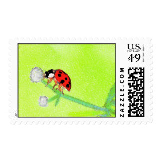 Water Color Lady Bug Postage