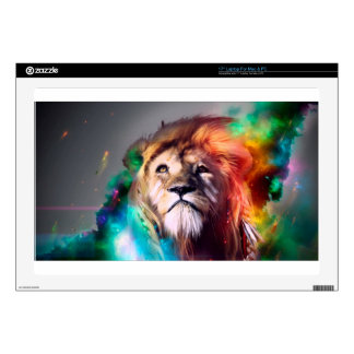 """Water color lion skin for 17"""" laptop"""