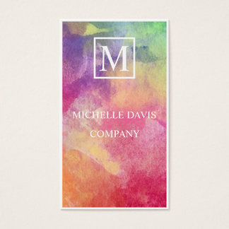 Water color pastel business card