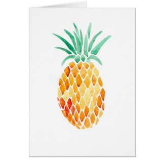Water- Color Pineapple Greeting Card