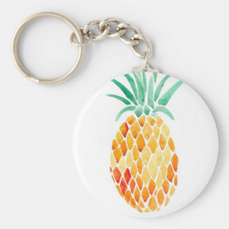Water- Color Pineapple Keychain