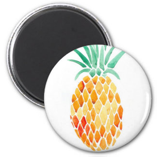 Water- Color Pineapple Magnet
