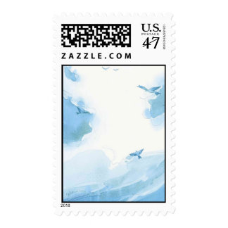 water color postage stamps