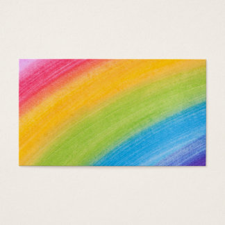 Water Color Rainbow Business Card