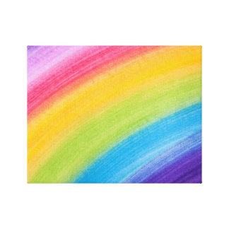 Water Color Rainbow Canvas Prints