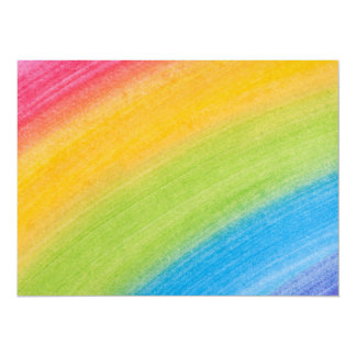 Water Color Rainbow Card