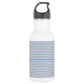 Water Color Rectangles Water Bottle