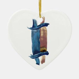 Water Color Torah Ceramic Ornament