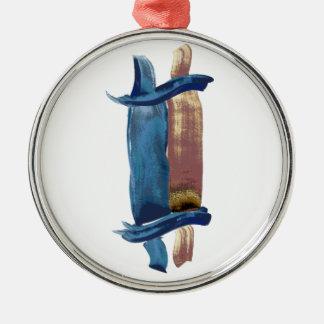 Water Color Torah Metal Ornament