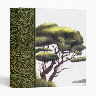 water color tree scrapbook binders