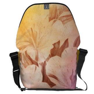 Water Color Vintage Flowers Courier Bag