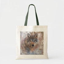 Water color Wolfs Tote Bag