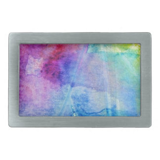 Water color wonder abstract fun lavender, lilac belt buckle