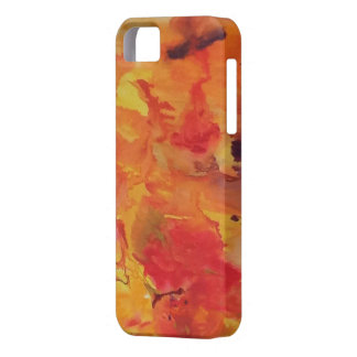 Water color wraps 12 red orange yellow iPhone SE/5/5s case