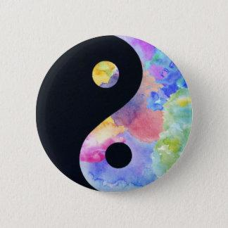 Water Color Yin Yang Button