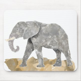 Water Colored Elephant mousepad