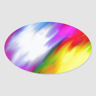 Water Colored Oval Sticker